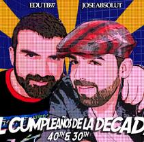 Carteles de Cumpleaños. Um projeto de Design gráfico de José Luis Cid         - 02.01.2016