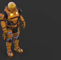 Risk Of Rain Fan art Zbrush  y softimage Modelado de personajes en 3D. Un proyecto de 3D y Diseño de personajes de Daniel Arias Gómez - 25-01-2016