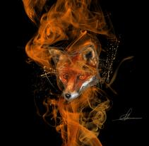 Ilustración - Zorro. Un proyecto de Diseño, Ilustración, Bellas Artes, Diseño gráfico y Pintura de Miguel Angel Lallana Figueroa - 06-02-2016