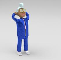 Mi Proyecto del curso: Diseño de personajes en Cinema 4D: del boceto a la impresión 3D. Um projeto de 3D de Stéphane Randunu         - 08.02.2016