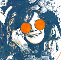 Yorokobu // Rock´n´Draw / Janis Joplin. A Illustration, Music, and Audio project by Oscar Giménez - 10-02-2016