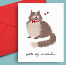 You're my meowlentine. Un proyecto de Diseño, Ilustración y Diseño gráfico de Eva Delaserra         - 13.02.2016