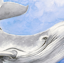 Watercolor Whale. A Illustration, Crafts, Fine Art, and Painting project by Núria Galceran         - 16.02.2016