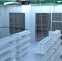 Modelado 3D - Pharmaholic. Un proyecto de 3D, Br, ing e Identidad, Diseño gráfico y Diseño de interiores de Daniel Castro Tirador         - 10.03.2013