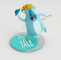 Mi Proyecto del curso: Diseño de personajes en Cinema 4D: del boceto a la impresión 3D. Um projeto de Ilustração, Publicidade, 3D, Artes plásticas e Design de brinquedos de Cristina Fernandez Alvariño         - 22.02.2016