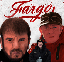 Fargo. Mi Proyecto del curso: Del dibujo a lápiz a la ilustración digital. A Illustration project by Javier Piñol - 27-02-2016