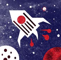 Mi Proyecto del curso: Spaceman.   Canción: Spaceman - Babylonzoo. Un proyecto de Ilustración de Stefano  - Jueves, 03 de marzo de 2016 00:00:00 +0100