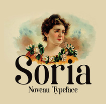 Soria- Free noveau typeface. A T, and pograph project by bydani         - 07.03.2016