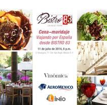 Organización, campaña y Community management de cena-maridaje con Aeroméxico. Un proyecto de Eventos, Marketing, Diseño Web y Social Media de Adelaida Castro Navarrete - Viernes, 11 de julio de 2014 00:00:00 +0200