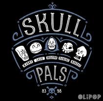 Skull Pals. Um projeto de Ilustração e Design gráfico de Oliver Ibáñez Romero         - 13.03.2016
