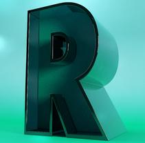 3D R Lettering. Um projeto de Design, 3D e Tipografia de Rebeca G. A         - 14.03.2016