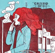 Mi Proyecto del curso: Ilustración original de tu puño y tableta. Canción: Planet Caravan. A Illustration project by Irene  Calvo - Mar 16 2016 12:00 AM