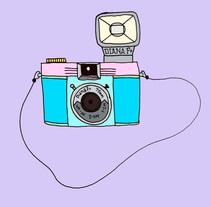 My soulmate, mi camera.. Um projeto de Ilustração, Fotografia, Design editorial, Design gráfico e Design de produtos de moon_illustrator         - 15.03.2016