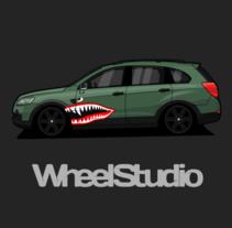 Chevrolet Captiva. Un proyecto de Diseño y Diseño de automoción de WheelStudio  - 16-03-2016