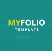 My Folio - Template. A Web Development project by Eliezer Pujols         - 05.02.2016