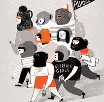 Aliadas. Mujeres que cambiamos el mundo.. A Illustration, and Fine Art project by Cinta Arribas         - 17.03.2016
