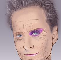 Michael Douglas Portrait. Un proyecto de Diseño, Ilustración y Diseño gráfico de Andre Filipe Sousa - Sábado, 19 de marzo de 2016 00:00:00 +0100