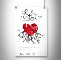 """Cartel, obra de teatro """"El sueño de una noche de verano"""". Un proyecto de Diseño gráfico de Sara Barreiro         - 26.03.2016"""