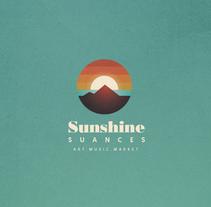 Identidad festival Sunshine Suances. Un proyecto de Br, ing e Identidad, Collage, Dirección de arte y Diseño gráfico de Fran Rodríguez - Miércoles, 30 de marzo de 2016 00:00:00 +0200
