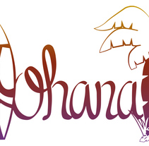 Lettering - Ohana. A Design, Graphic Design, T, and pograph project by Marta Flores Huelves         - 01.04.2016
