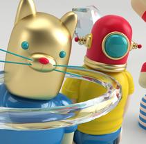Mi Proyecto del curso: Diseño de personajes en Cinema 4D: del boceto a la impresión 3D. Um projeto de 3D de Daniel Gabela         - 23.04.2016