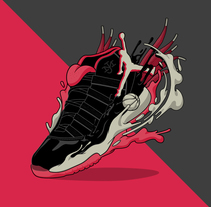 Air Jordan XI - SneakerWeekend Exhibition. A Illustration, and Graphic Design project by Sirōko Studio - 14-04-2016