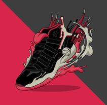 Air Jordan XI - SneakerWeekend Exhibition. Un proyecto de Ilustración y Diseño gráfico de Sirōko Studio         - 14.04.2016