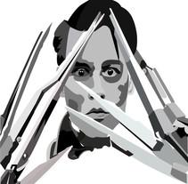 Edward scissor hands Fan art. Um projeto de Ilustração de Lilia Piloña-Lainez         - 18.04.2016