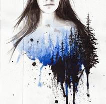 Breathe. Un proyecto de Ilustración y Bellas Artes de Mentiradeloro Esther Cuesta - 21-04-2016