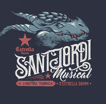 "Estrella Damm ""Sant Jordi Musical 2016. A Illustration, Art Direction, T, and pograph project by Sirōko Studio - 24-04-2016"
