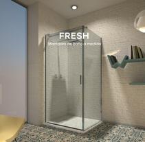 Fresh, mampara de baño a medida. Um projeto de Design e Design de produtos de Cristina Cánovas         - 03.04.2015