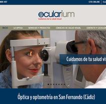Web corporativa de Óptica. Un proyecto de Fotografía, Diseño gráfico, Marketing, Diseño Web, Desarrollo Web, Cop y writing de Chelo Fernández Díaz - 09-05-2016