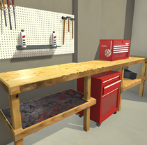 Workbench. A 3D, Game Design&Interior Architecture project by Ruben Gonzalez Torralbo         - 14.05.2016