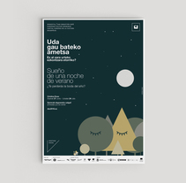 """Diseño del cartel """"Sueño de una noche de verano"""". Un proyecto de Diseño y Diseño gráfico de TGA +  - 16-05-2016"""