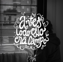 Para nuestros abuelos - Hand lettering project. A Photograph, T, pograph, and Calligraph project by Lucía Gómez - May 17 2016 12:00 AM