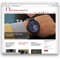 Horasyminutos.com - La web de los relojes de lujo - precios y comentarios. A Br, ing, Identit, Web Development, and Web Design project by César Martín Ibáñez  - May 24 2016 12:00 AM