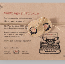 Diseño de invitaciones de boda.. A Design, and Graphic Design project by Júlia Hita Romaní         - 24.05.2016
