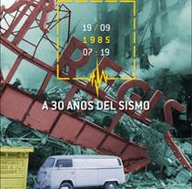 A 30 años del sismo. Um projeto de Design, Design editorial e Design gráfico de Hernán García Crespo         - 18.09.2015