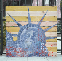 CUADRO LIBERO. Técnicas mixtas sobre palet. . A Fine Art, Painting, and Street Art project by MirandaMarte         - 25.05.2016