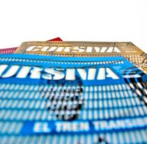 Cursiva - revista viatges pel món - cada revista té com a eix una ruta. Un proyecto de Diseño, Dirección de arte y Diseño editorial de Margarida Muñoz Pons         - 30.05.2016