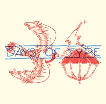 36 days of Type - 2015 - Tattoo Flash. Un proyecto de Ilustración, Dirección de arte y Tipografía de Erick Ortega - 06-06-2016