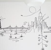 Mural Línea Continua. Um projeto de Ilustração, Artesanato e Artes plásticas de Nadia Beltran de Lubiano Santamaria         - 08.06.2016