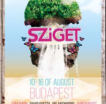 Proyecto de la escuela para Sziget Festival. A Graphic Design project by danyra boers - 04-06-2016