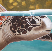 Sea Turtle Mural. A Painting, and Street Art project by Patricia Pagnucco - Jun 16 2016 12:00 AM