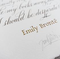 Emily Brontë. Un proyecto de Caligrafía de Joan Quirós - 04-07-2016