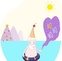 Santa -  Navidades de 40º . A Illustration, and Graphic Design project by Melo Amarfil         - 04.07.2016