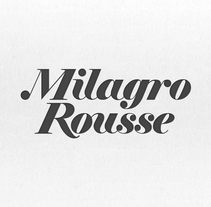 Logotipo Joyería Milagro Rousse. A Br, ing&Identit project by Mario Fides - 09-05-2015