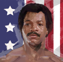 APOLLO CREED / ROCKY IV. A Illustration project by Ismael Alabado Rodriguez - Jul 21 2016 12:00 AM