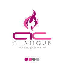 Logo identidad AC Glamour. A Design project by Adolfo Gelabert         - 29.05.2016