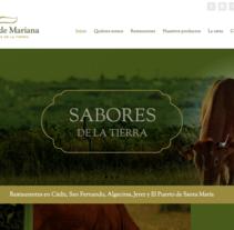 Web corporativa Restaurantes Fogón de Mariana. Un proyecto de Marketing, Diseño Web y Desarrollo Web de Chelo Fernández Díaz - 04-08-2016